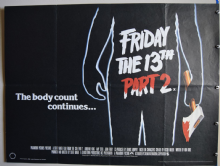 Friday the 13th Part 2 Horror Poster - UK Quad